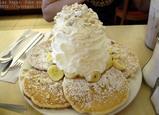 バナナホイップクリームパンケーキ