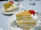 パステルのプリンケーキ
