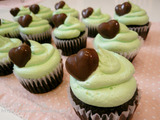 バニーちゃんのチョコミントカップケーキ