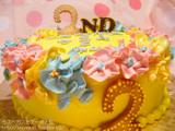 二周年記念ケーキ