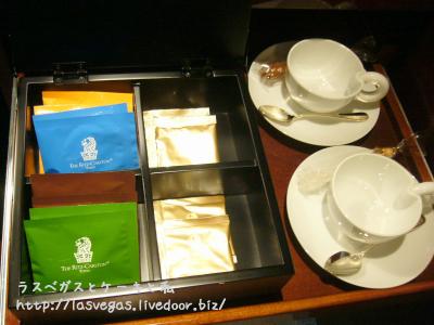 豊富なお茶類