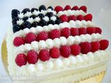 星条旗ケーキ