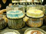 青いケーキ