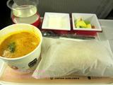 増床前の羽田サクララウンジ&JALエコノミー機内食でスープストック