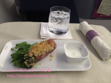 デルタ航空 ロサンゼルス-羽田線ビジネスクラス機内食