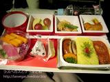 JALロサンゼルス行きプレミアムエコノミーの機内食・J級創作グルメ