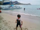 いとこ甥のビーチタイム