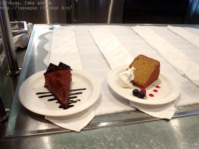 チョコケーキとシフォンケーキ