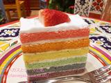 チチカカ ムンド イオンレイクタウン店でタコス&虹色ケーキ
