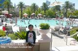 MGMのプールのカバナ