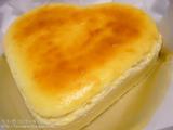 クリームチーズケーキハート型