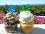 青空と海とカップケーキ