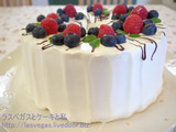 夫誕バースデーケーキ(マミさんシフォンリベンジ編)