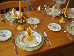 黄色の皿セット