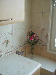 洗面所に花