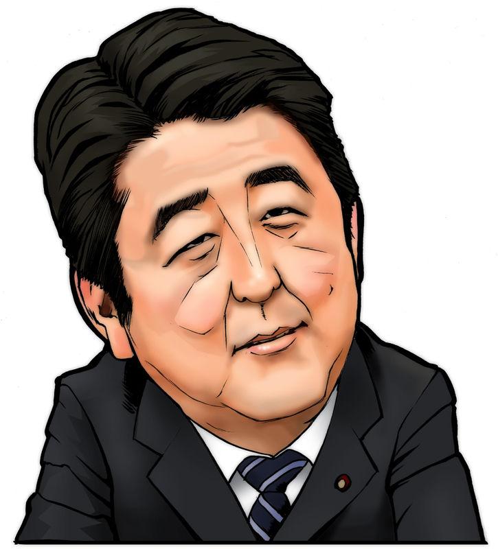 安倍首相イラスト に対する画像結果