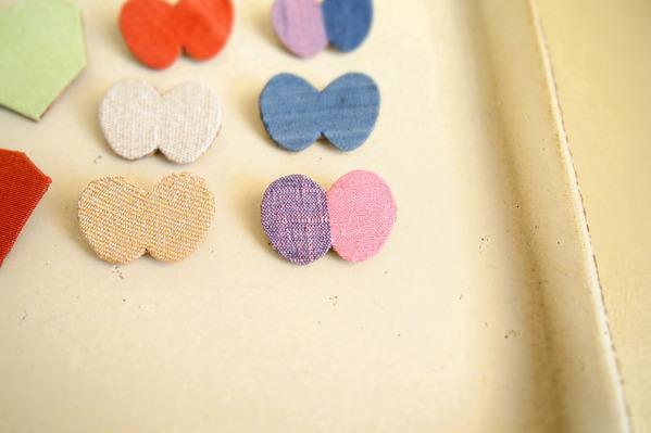 yubisaki ブローチ ちょうちょ 蝶々 手織り つづれ織り