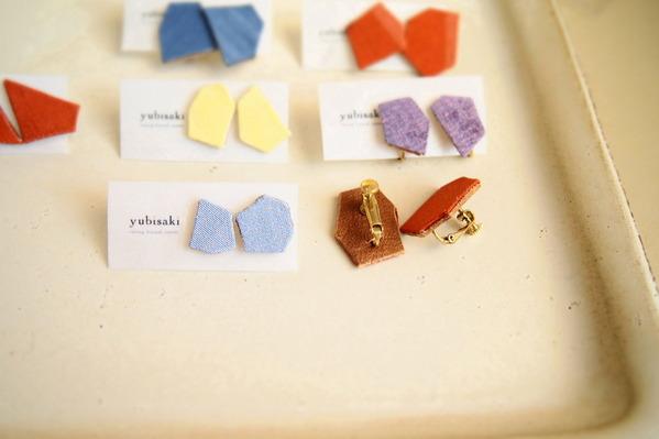 yubisaki ピアス イヤリング 手織り つづれ織り