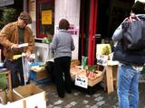 マルシェ朝市で新鮮野菜買う