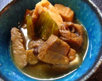マグロと豆腐の煮物