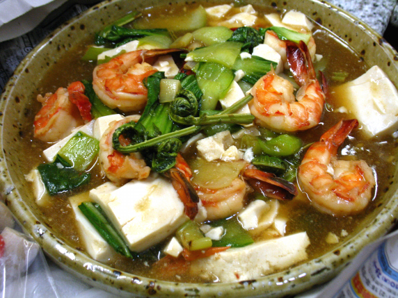 海老と豆腐のうま煮