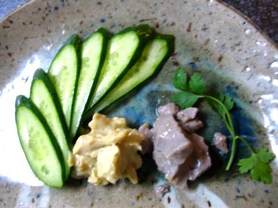 黒豆豆腐と緑豆豆腐のみそ漬け