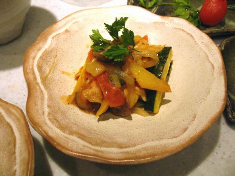 カポナータ・・野菜煮込み (イタリアンでラタトューユ)