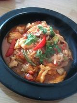 鶏肉とトマトソースの煮込み マンゴー風味