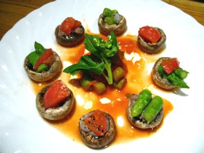 マッシュルームのファルシー(詰め物)4種類