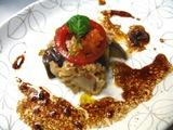 ハナビラタケと茄子のカポナータ仕立て オイスターソース