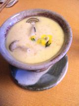 菜の花と豆乳の茶碗蒸し