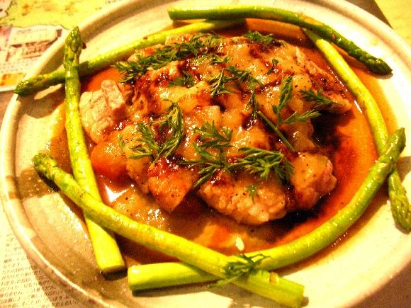 富士幻豚のステーキ メロンソース