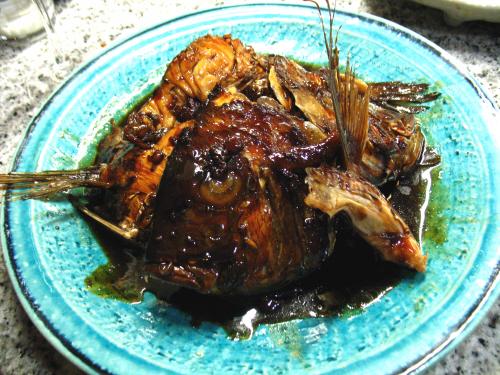 鯛の荒だき赤ワインバルサミコ風味