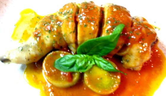 鶏モモ肉・冬野菜ライスのファルシーとリーキ