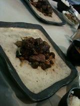 牛ヘレ肉のきのこ入り田楽味噌