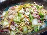白菜とハナビラタケの和風パスタ
