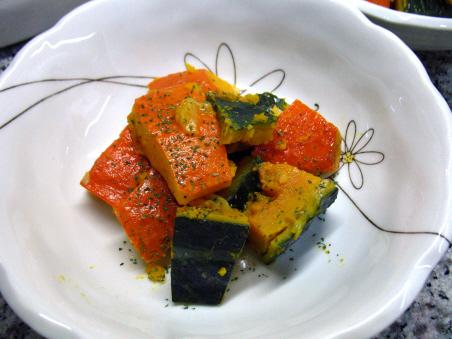 赤皮かぼちゃとえびすかぼちゃのブイヨン煮