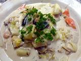 シーフードと白菜 じゃが芋のミルク煮込み