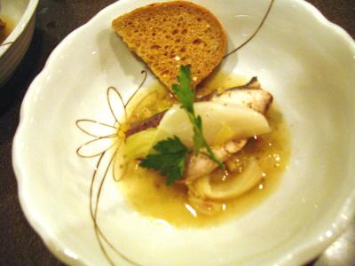 鰤のポワレ冬野菜のソース