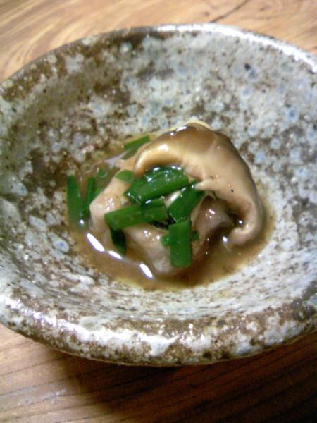 シイタケと牡蠣