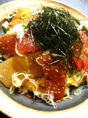 マグロとカンパチのちらし寿司