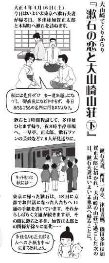 漱石の恋と大山崎山荘㊦