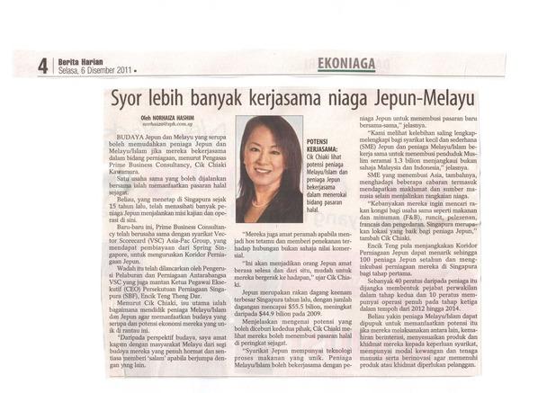 Berita Harian - 6 Dec 2011
