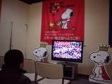 スヌーピ−モノ展でのビデオ上映の様子