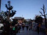 1月6日の四天王寺の風景