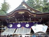 三輪神社の拝殿2008