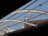 JR大正駅プラットホームから見えるアンテナ