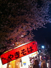 夜桜と屋台2013