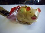 今宮戎神社で買った金色の干支の土鈴