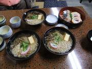 栄寿司さんのにゅう麺とお寿司